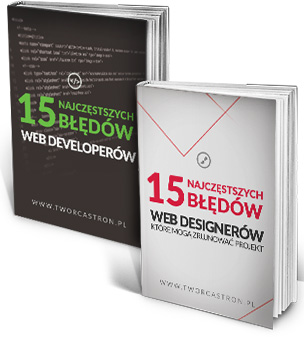 Darmowy ebook - 15 Najczęstszych Błędów Web Designerów i Web Developerów