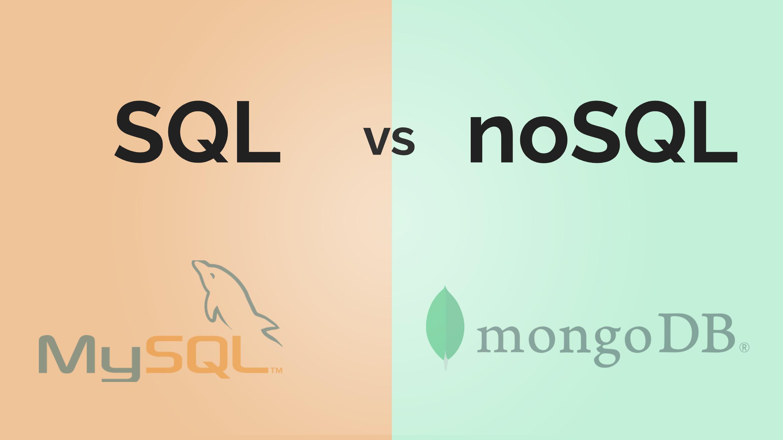 sql vs nosql - SQL vs noSQL | MySQL vs MongoDB - różnice